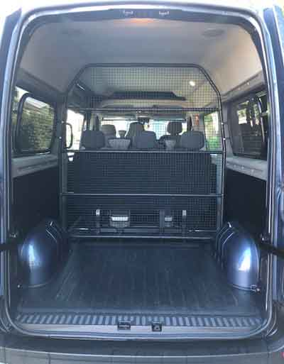 Minibus with space for many bags and 8 passengers for airport transfers